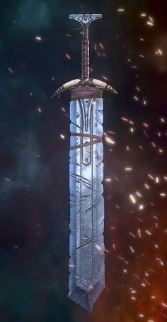 Fantasy Blade, Fantasy Sword, Fantasy Weapons, Sword Drawing, Sword Art, Ice Sword, Cosplay Sword, Great Sword, Types Of Swords