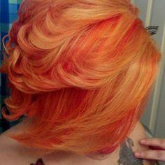 orange hair w/ highlights