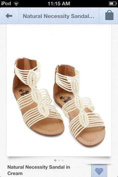 Modcloth Cream Sandals ;)