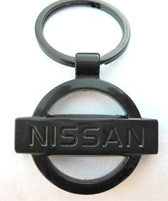 Nissan Keyring Black. The ideal gift for any Nissan fan! Stunning key ring with famous Nissan Logo