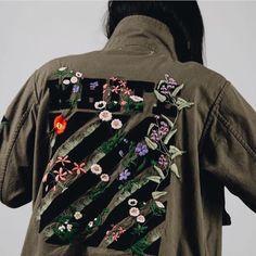 jacket khaki army green jacket embroidered jacket