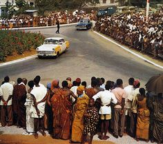Kumasi Opels 1963 calendar - Opel Rekord P2, 1950s Opel Kapitän  Opel tried to make its audience believe that it was well established in Africa too. And maybe it was, I don't know.  This photo is taken in Kumasi, Ghana.