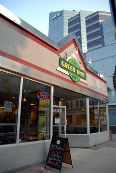 The Green Spot Cafe, located at 1838 Hamilton St. in Regina, SK. I've walked by it a million times, but never been inside. It looks like a great place for a healthy lunch and a coffee. Walking By, Great Places, Buns, Heavenly, Hamilton, Cinnamon, The Neighbourhood, Times, Coffee