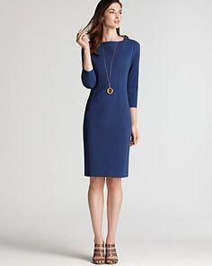 Elle Tahari Davis Three-Quarter Sleeve Sheath Dress. Web ID: 597389