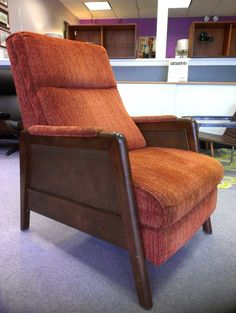 wheel of forturne? Mid Century Vintage Recliner with Wood Frame