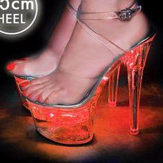 e96bc049b97 LED Illuminated Exotic Dancer Stripper Shoes 6 INCH Stiletto Heel Plateform