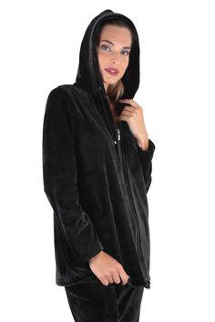 Claire Katrania Φόρμα Μαύρο Βελούδο Plus Size