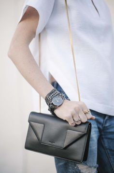 black clutch via @Style Space & Stuff Blog / Could I Have That