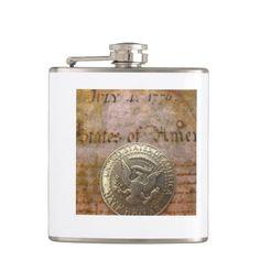 vintage 4th of july hip flask