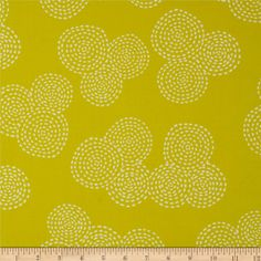 Michael Miller Stitch Circle Citron from @fabricdotcom  Designed for Michael Miller Fabrics, this fabric is perfect for quilting, apparel and home décor accents.  Colors include white on a citron background.