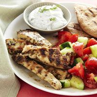 Grilled Middle Eastern Turkey Burgers Recipe with Yogurt Sauce
