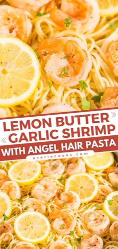 A seafood recipe in 15 minutes! Tossed in lemon garlic butter sauce, the plump, juicy shrimp have so much flavor. Serve with angel hair pasta for a dinner idea that is sure to become a favorite! Lemon Garlic Butter Shrimp, Garlic Shrimp Pasta, Lemon Pasta, Mixed Seafood Recipe, Best Seafood Recipes, Shrimp Recipes, Quick Easy Meals, Easy Dinner Recipes, Simple Recipes