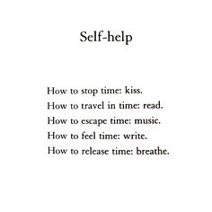 'Self-help' from Reasons to Stay Alive - Mark Haig