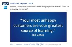 amex, facebook post, quote post