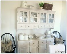 painted buffet/hutch. Looks great with the high gloss black chairs.