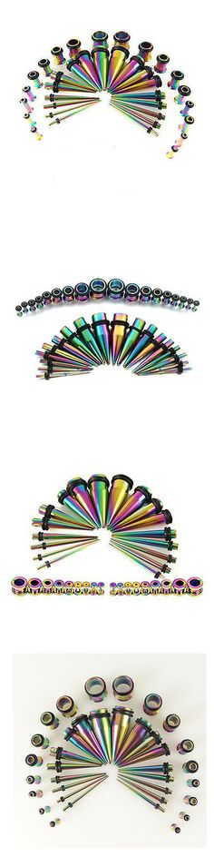 Body Piercing Jewelry 32050: 36Pcs 14G-00G Gauge Rainbow Titanium Anodized Tapers Plugs Ear Stretching Kit -> BUY IT NOW ONLY: $113.99 on eBay!