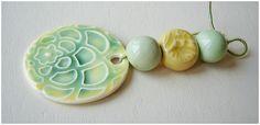 """Conjunto de porcelana """"Menta-Limón """" de MAJOYOAL por DaWanda.com"""