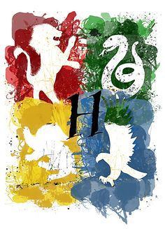 Hogwarts Houses: Gryffindor, Slytherin, Ravenclaw, Hufflepuff