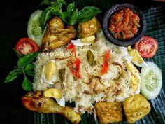 Nasi Liwet, Nasi Bakar, Rice Recipes, My Recipes, Asian Recipes, Ethnic Recipes, Recipe Steps, Indonesian Food, Paella