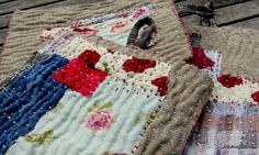 Zokins- layered stitched cloths used for cleaning- as they wear thru, you stitch more layers on.