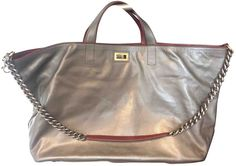 Grand shopping leather tote