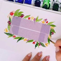 How to Paint a Floral Watercolor Wreath Watercolor Postcard, Watercolor Cards, Watercolor Trees, Watercolor Landscape, Tattoo Watercolor, Watercolor Animals, Watercolor Background, Abstract Watercolor, Abstract Paintings