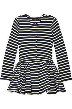 WISH / Peplum-waist striped cotton jacket / $495 / TIBI