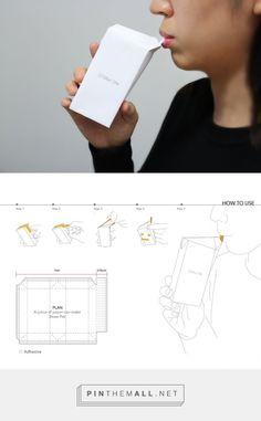 Straw Pak Student Concept packaging by Hongik University (Southkorea) - http://www.packagingoftheworld.com/2016/01/straw-pak-student-project.html