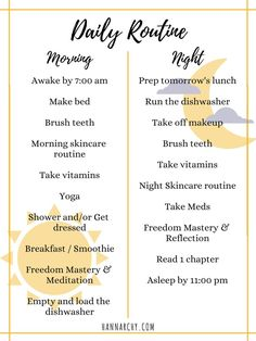 Creating a Daily Routine Tips and ideas to help you schedule a daily checklist to keep you motivated and productive tips schedule daily routine - Daily Routine Schedule, Daily Checklist, Routine Planner, Daily Routines, Morning Routine Checklist, Daily Routine For Women, Beauty Routines, Morning Routine Printable, Daily Beauty Routine