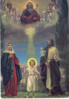 Image pieuse - La Sainte famille...