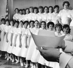 Nurses ready to be capped :: Albert Einstein Medical Center 1961