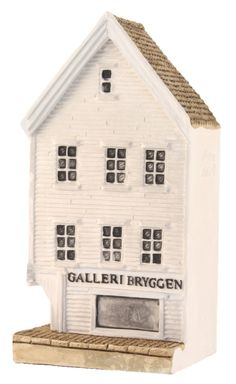 "Bryggen I Bergen, ""Galleri"" - Lillesand Design AS Miniature Houses, Norway, Shed, Outdoor Structures, Handmade, Design, Lean To Shed, Hand Made, Backyard Sheds"