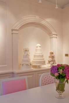 """Bakery - love the little """"nooks"""" to display cakes."""