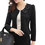 o trabalho das mulheres arco manga longa curto blazer (algodão) de 2016 por $33.32