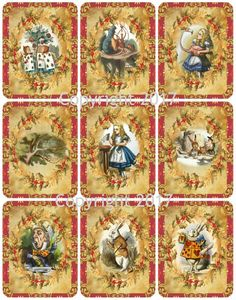 Victorian Vintage Winter Holly and Flowers Christmas Card #101 Printed Collage Sheet 8.5 x 11