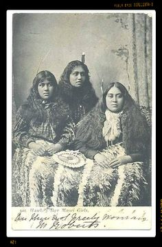 Maori girls from Hawk's Bay, New Zealand.
