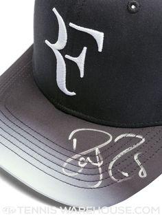 Roger Federer Platinum Logo Flex Baseball Cap Black