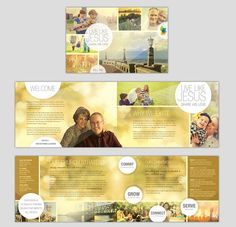 Church Bulletin Design My Art Pinterest Churches Church - Church brochure templates