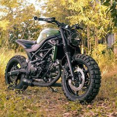 Love the all-terrain, military look of this SV650 built by...