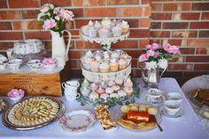 Southern Belle, Tea Party themed Bridal Brunch! Shabby Chic bridal shower. Bridal Brunch. Bridal shower ideas.