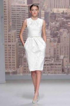 Abiti da sposa corti, modelli 2015 - Minidress Rosa Clarà