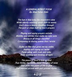 A General Intrest Poem - All types of Poetry National Poetry Month, Poems, Writing, Sayings, Community, Style, Lyrics, Stylus, Composition