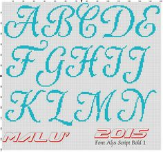 Alfabeto Cross Stitch Alphabet, Cross Stitch Patterns, Emoticon, Needlepoint, Script, Bullet Journal, Embroidery, Internet, Fifa