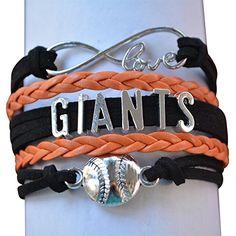 San Francisco Giants Jewelry, SF Giants Bracelet Makes Perfect Baseball Fan Gift Infinity Collection http://www.amazon.com/dp/B01CTBD3QA/ref=cm_sw_r_pi_dp_lTYdxb0N13DE7