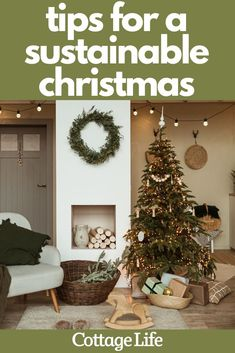 Make your holiday season eco-friendly with these tips for a sustainable Christmas. From, Christmas decorations to holiday meals, we have a ton of ideas. #ecofriendly #sustainable #christmas #holidayideas #christmasdecor #christmaslights #christmasgifts #DIYchristmas #CottageLife Christmas Ecards, Christmas Bags, Xmas, Types Of Christmas Trees, Christmas Decorations, Holiday Decor, Cool New Gadgets, Cottage Christmas, Led Christmas Lights