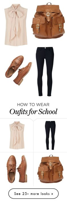 """""""Back to school"""" by maelmc2014 on Polyvore featuring MaxMara, Frame Denim and Gap"""