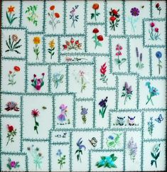 """I'm continuing to share pictures from """"An Artist's Garden"""", dimensional embroidery designs by me, Rosalie Wakefield. Many are already aware..."""