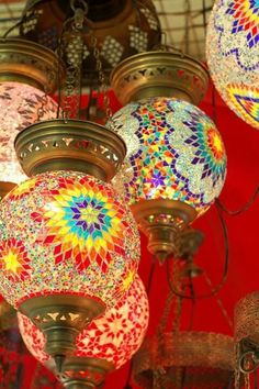 Moroccan Tile Lamps