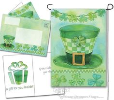everGreetings Card Flags - St. Pat's Hat