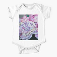 Baby Onesie, Pink Peonies, Chiffon Tops, Going Out, Bloom, Art Prints, Printed, Awesome, Shop